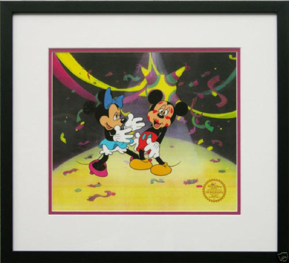 "Disney ""Mickey surprise party"" L/E sericel framed"