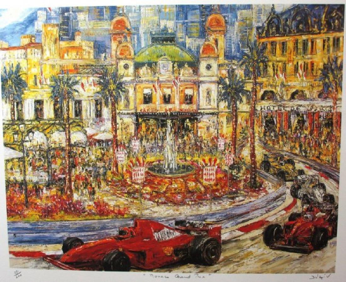 "DUAIV(French) ""Monaco Grand Prix"" HS/N Lithograph"