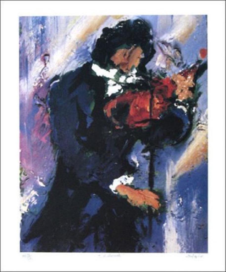 "Duaiv(French) ""Violinist"" HS/N Lithograph"