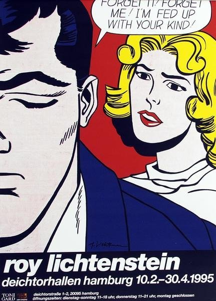 ROY LICHTENSTEIN Forget it.. offset lithograph hand