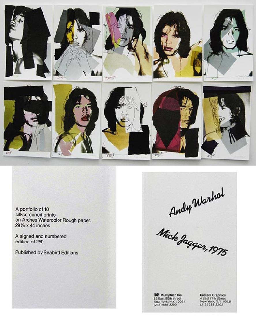 ANDY WARHOL Mick Jagger portfolio, 1975 offset