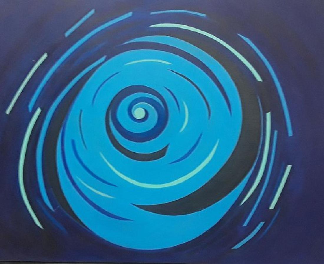 """LUIS MARTINEZ PEDRO """"Circle"""" 1965 Oil on Canvas"""