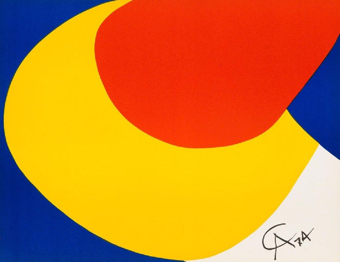 ALEXANDER CALDER, Convection 1972 Lithograph