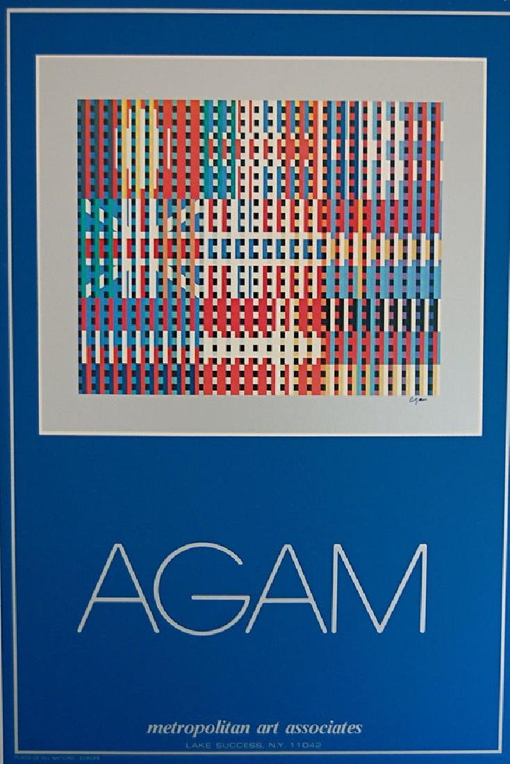 "Yaacov Agam Mix Media ""FLAGS OF ALL NATIONS"" signed in"