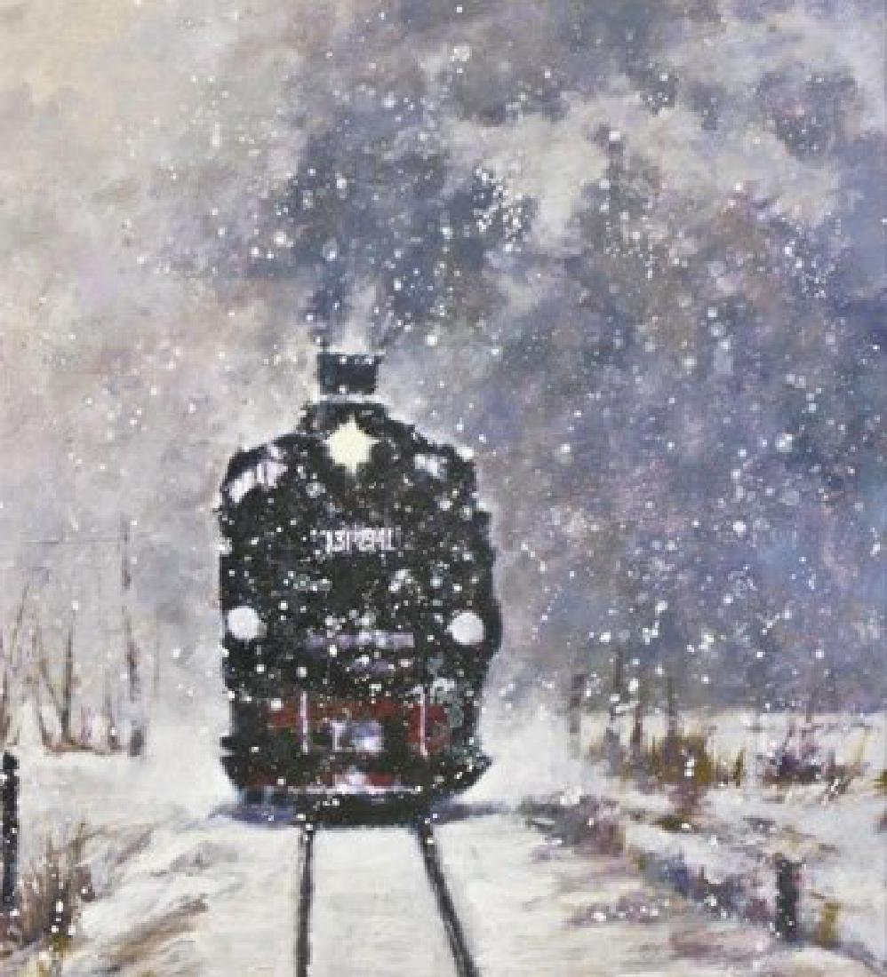 "Aldo Luongo ""Winter Express"" Stretched 25x20 Giclee"