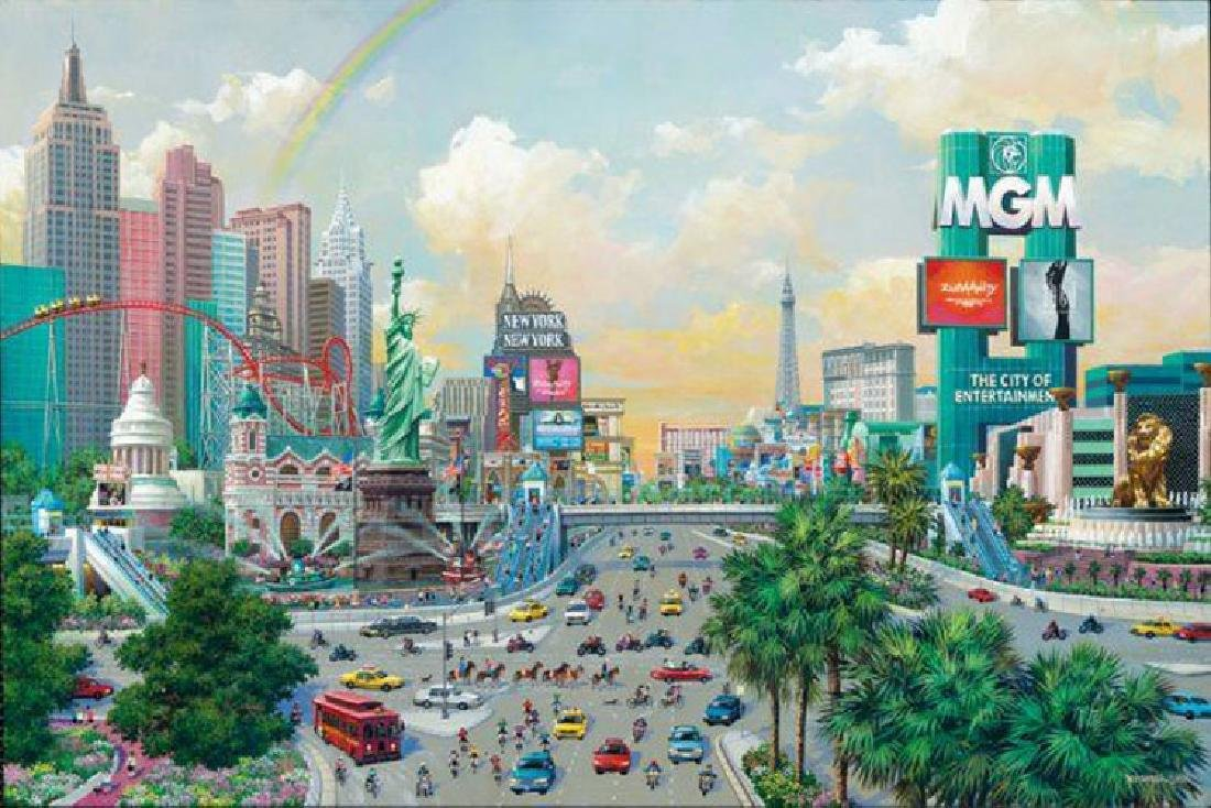 Alexander Chen Las Vegas Afternoon The Strip S/N Frame