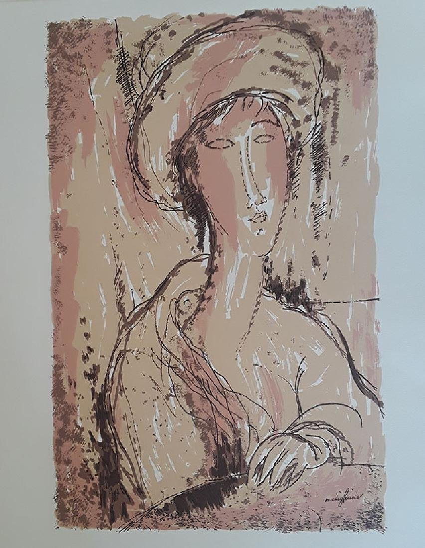 Amedeo Modigliani Portrait Of A Woman lithograph After