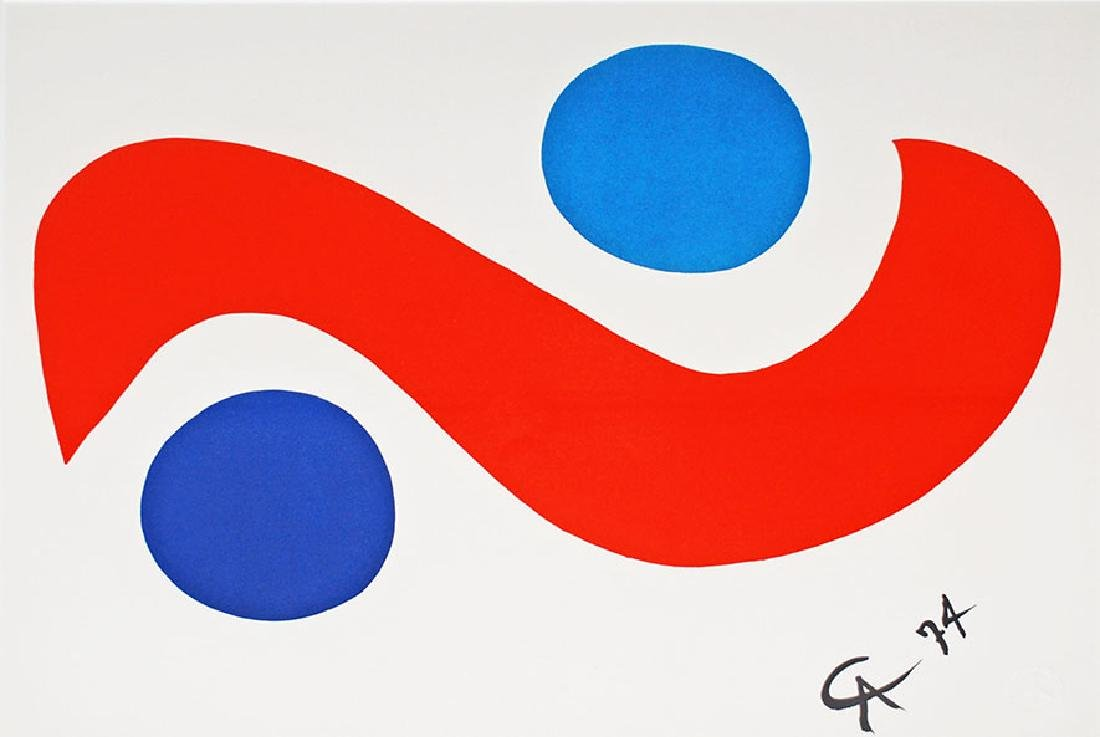 Calder, Lithograph Flying Colors Braniff Air Sky Bird