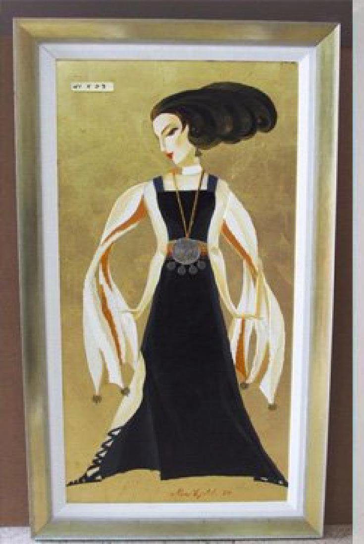 "Alina Eydel ""Black and Gold Glamour"" original Acrylic"