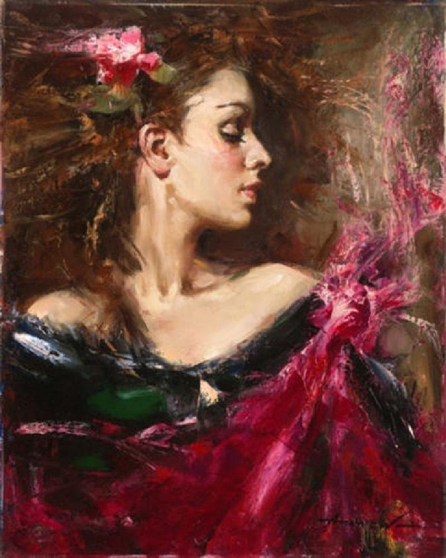 "Andrew Atroshenko ""A Moment in Time"" Embellished giclee"