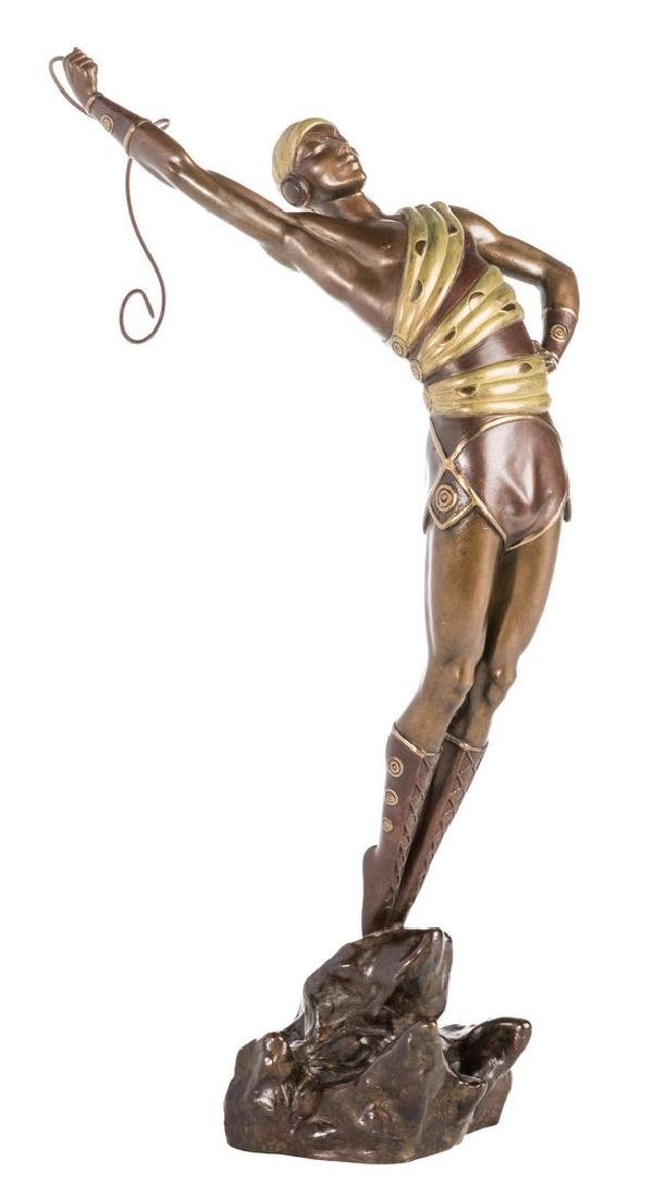 "Erte, ""Le Danseur, Bronze Sculpture Signed and numbered"