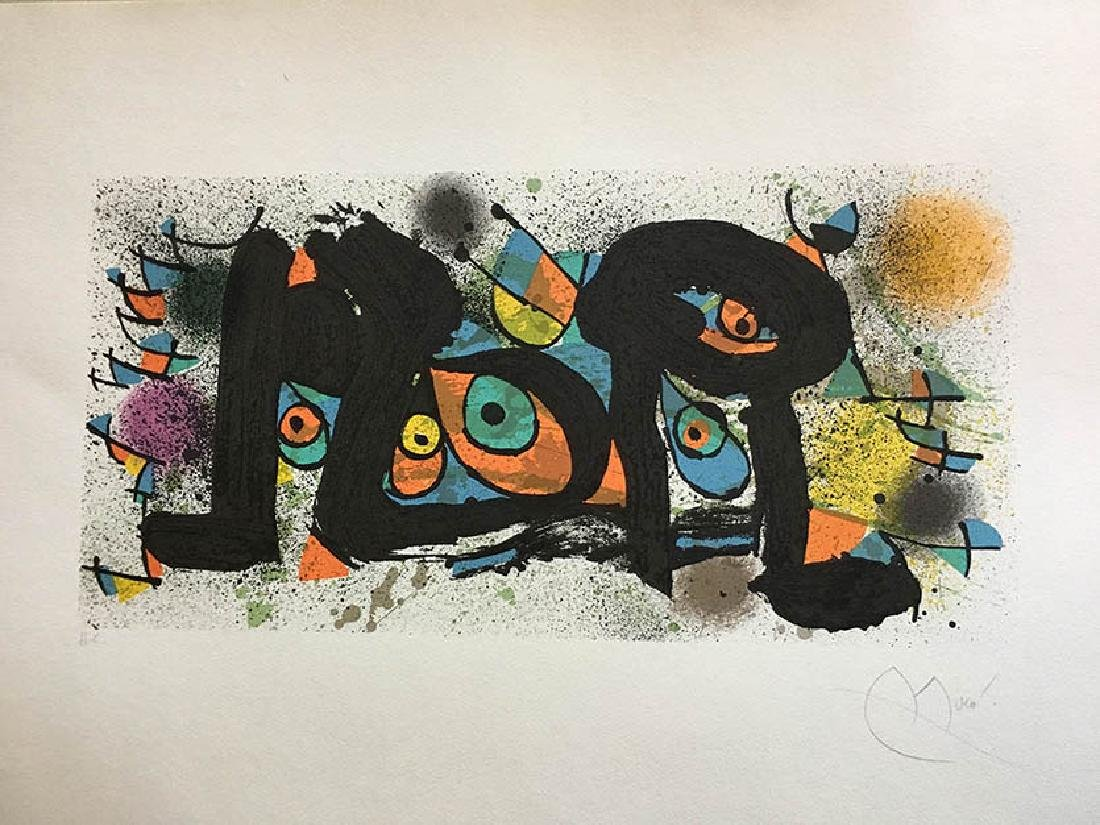JOAN MIRÓ, Sculpture II Lithograph Hand signed and