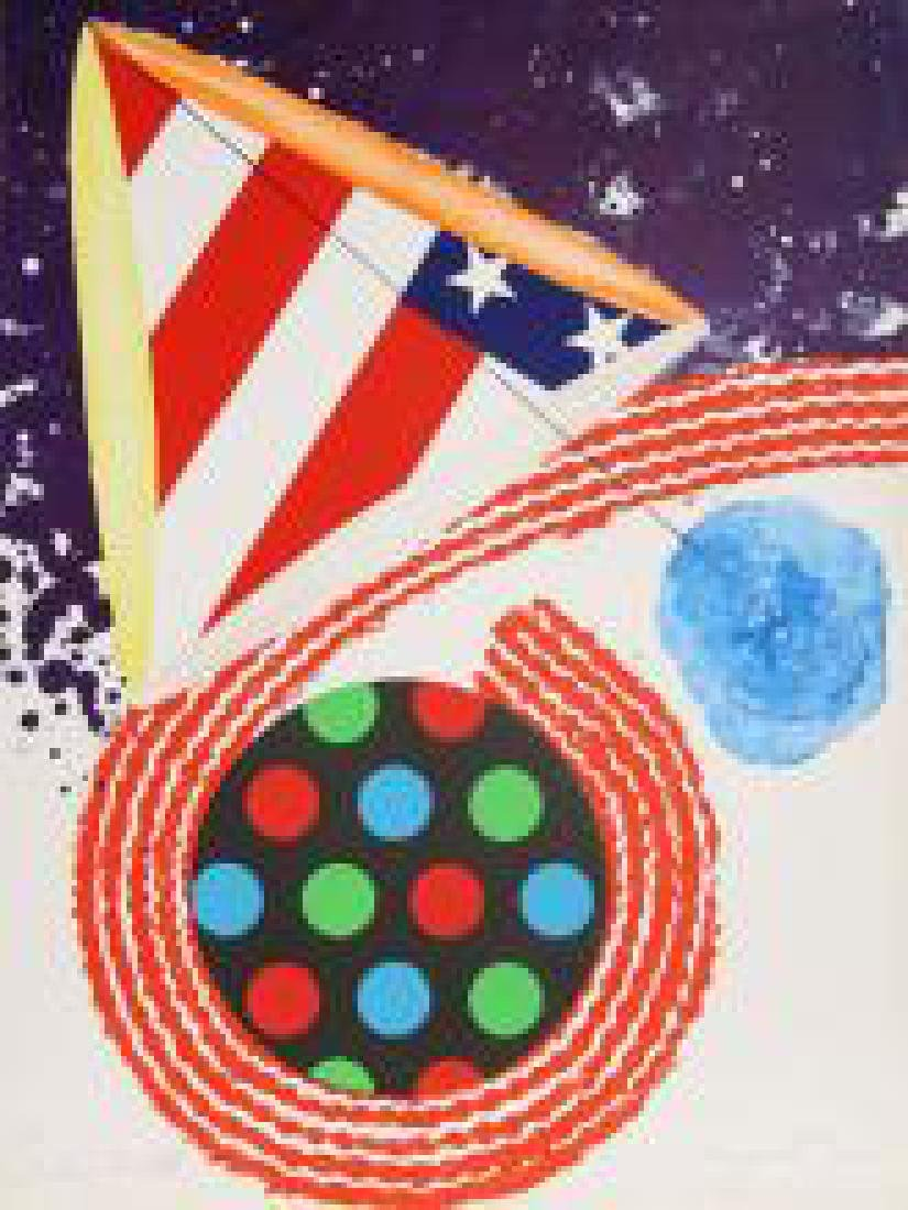 James Rosenquist, A Free for all Lithograph signed and