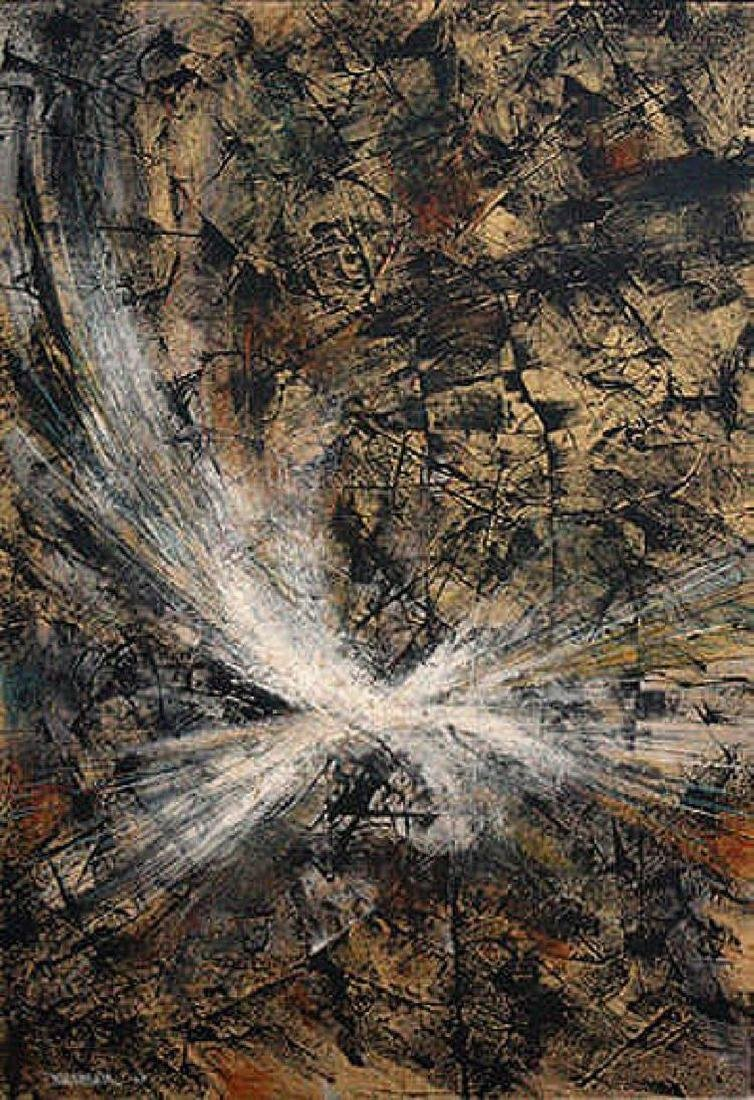 Leonardo Nierman, Abstract, Original Oil on Board 1960
