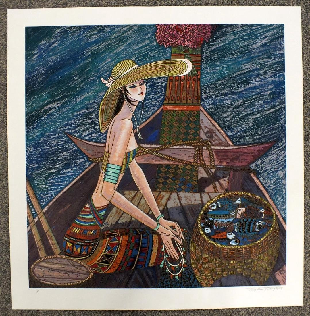 """Ting Shao Kuang Serigraph """"Reminiscence"""" Hand signed"""