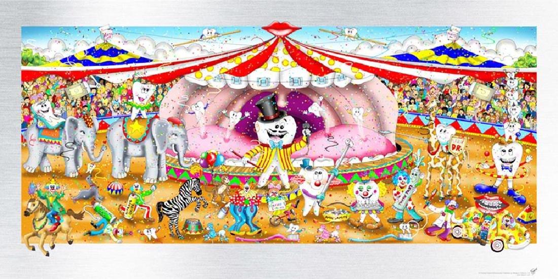 Charles Fazzino, Dental Circus (DX) 3-D serigrapgh HS/N