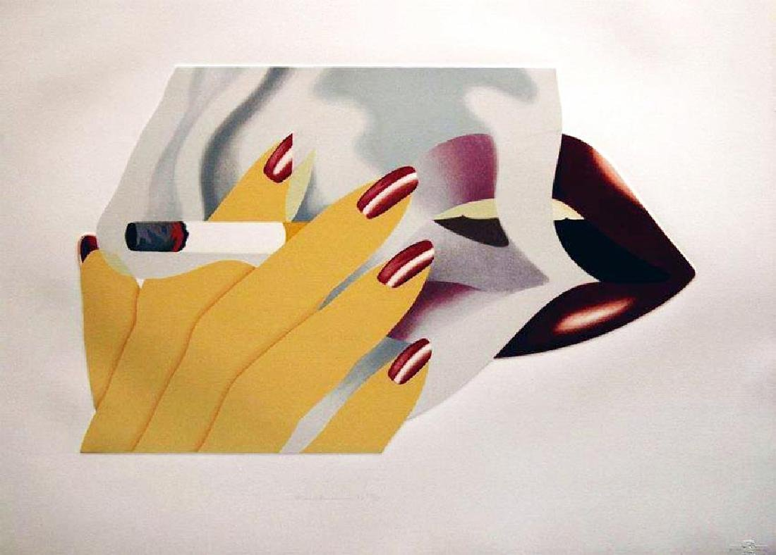 Tom Wesselmann Smoker 1976, Embossed Lithograph,
