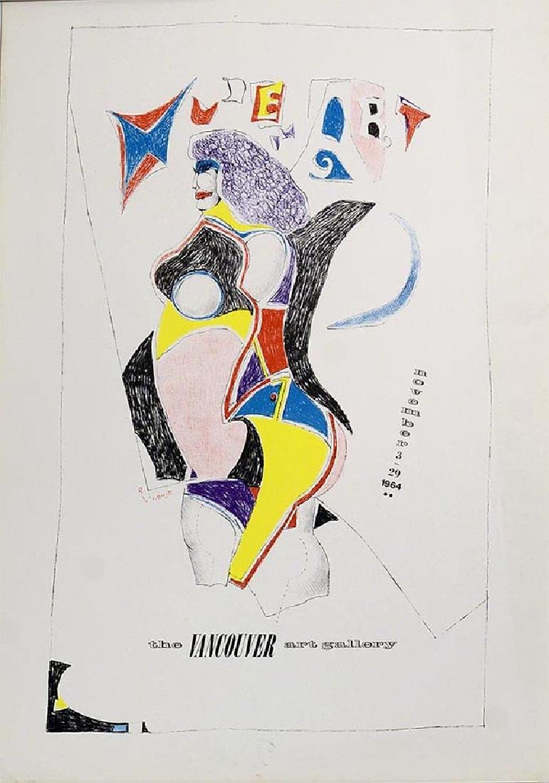 RICHARD LINDNER Vancouver Art Gallery,1964 Lithograph,