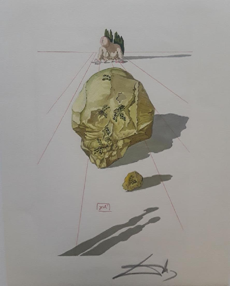 "Salvador Dali Hand Signed Woodblock Divine Comedy ""Hell"