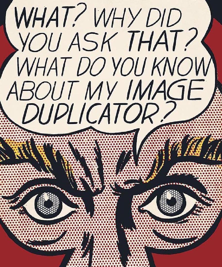 ROY LICHTENSTEIN duplicator, offset lithograph