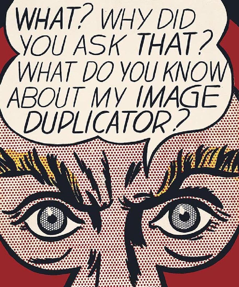 ROY LICHTENSTEIN duplicator, offset lithograph