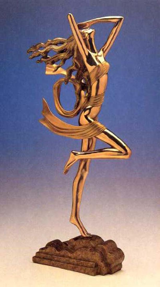 Shao Kuang Ting, GOLDEN WIND, BRONZE SCULPTURE Signed