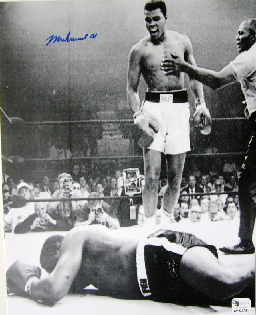 "memorabilia ""Liston Knock Out"" Muhammad Ali Autographed"