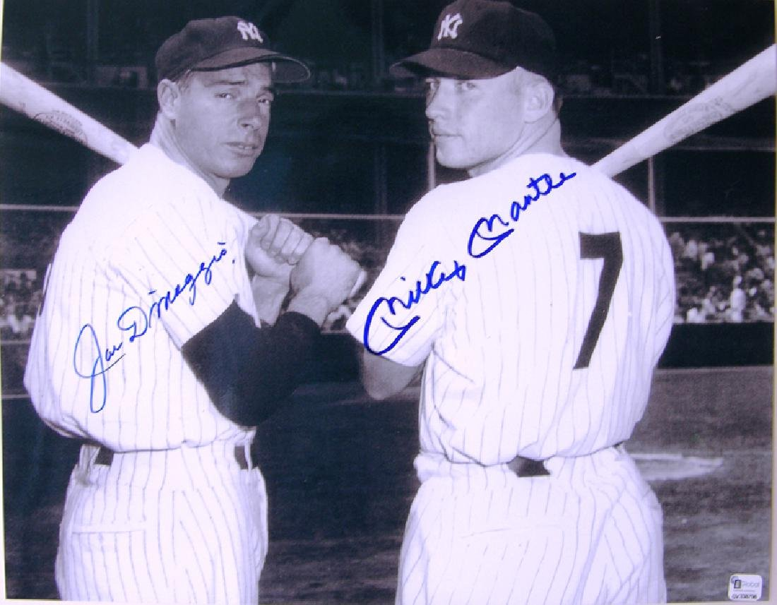 "memorabilia ""Sluggers"" Joe DiMaggio & Mickey Mantle"