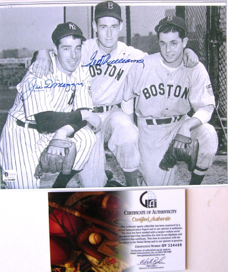 "memorabilia ""Trio"" Joe (& Dom) DiMaggio & Ted Williams"