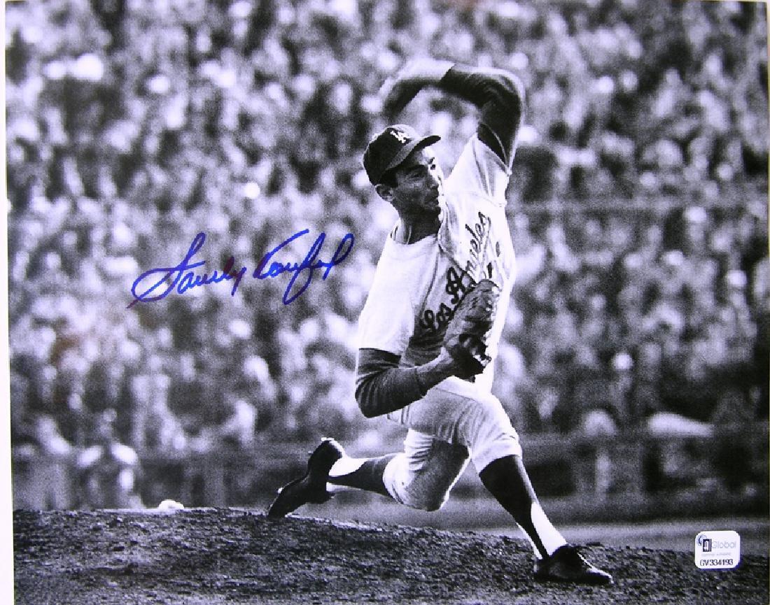 "memorabilia ""The Pitch"" Sandy Kaufax Autographed 8x10"