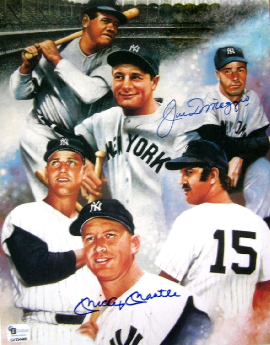 memorabilia Aoutographed 11X14 Mickey Mantle with Coa