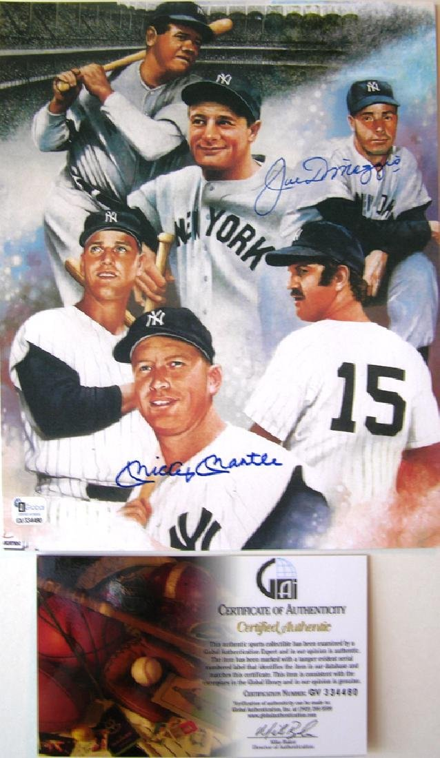 memorabilia Aoutographed 11X14 Mickey Mantle with Coa - 2