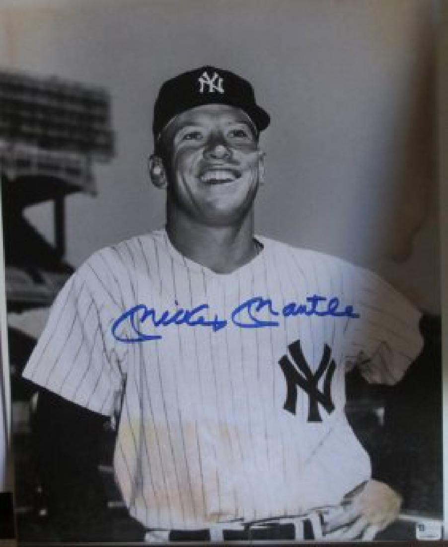 memorabilia Autographed lithophoto Mickey Mantle,