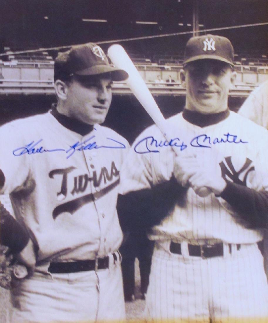 memorabilia Hall of Famers Harmon Killebrew and Mickey