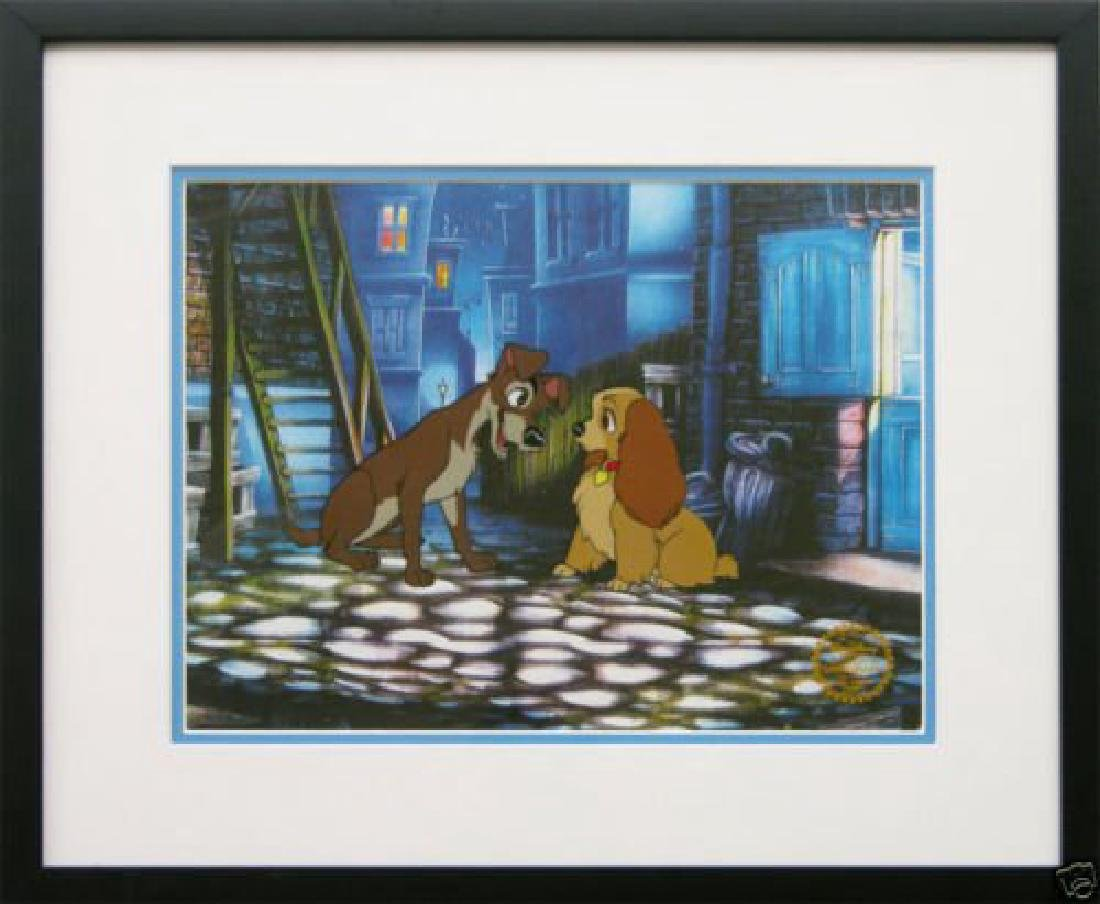"Disney Framed Animation Cel ""Lady and the Tramp"""