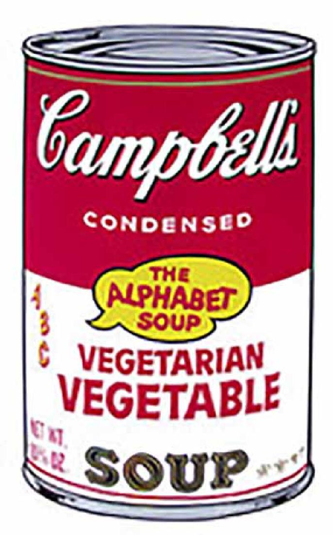 "ANDY WARHOL ""Campbell'S Soup II.3"" SERIGRAPH SUNDAY B."