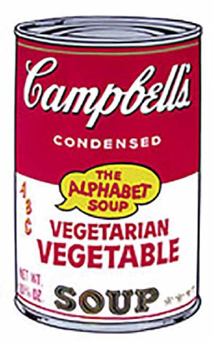 "ANDY WARHOL ""Campbell'S Soup II.3"" SERIGRAPH SUNDAY B."