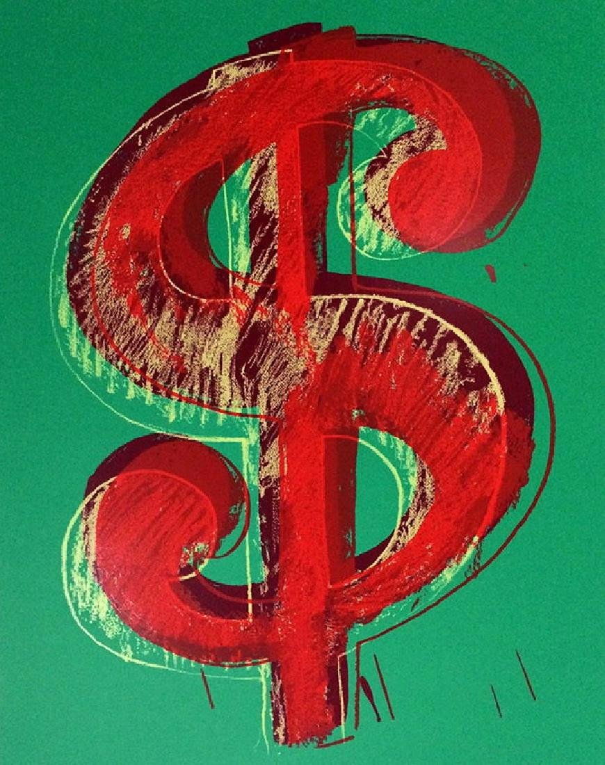 "Andy Warhol ""Dollar Green"" Original Screeenprint Sunday"