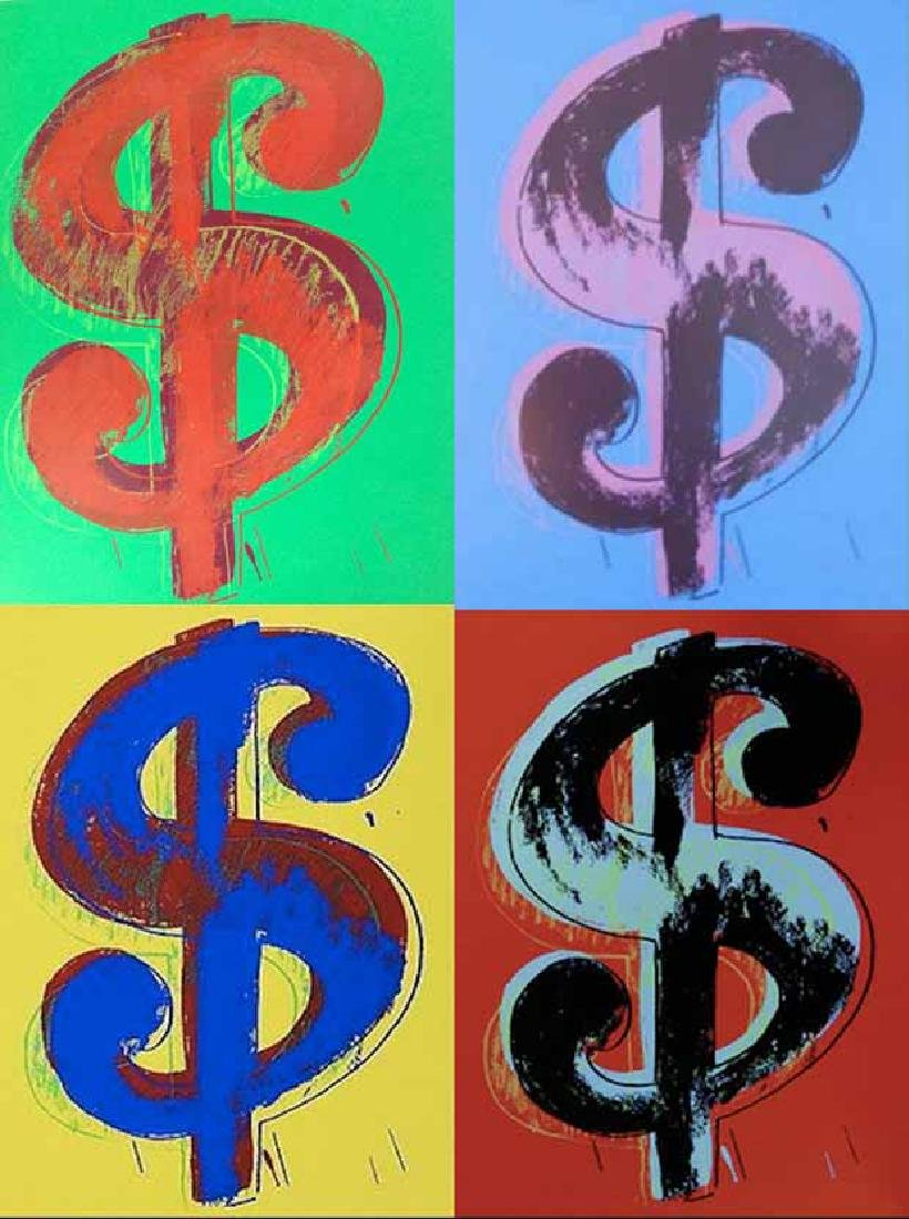 "Andy Warhol ""Dollar Sign"" screenprint Portfolio By"