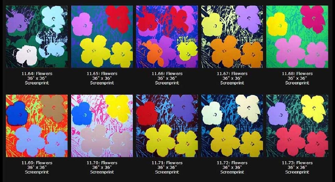 "Andy Warhol ""Flowers"" Sunday B. Morning Screenprint"