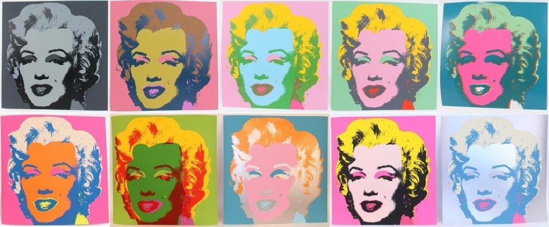 Andy Warhol MARILYN Portfolio 10 pic. Sunday B. Morning
