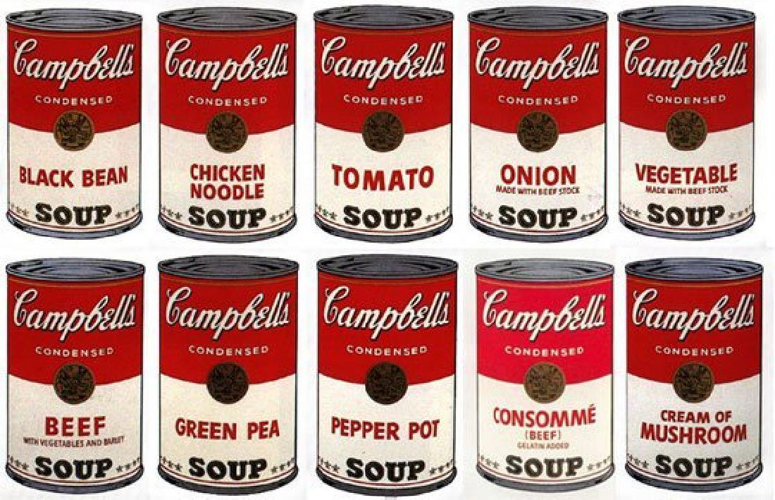 ANDY WARHOL SUNDAY B MORNING SOUP CAN PORTFOLIO