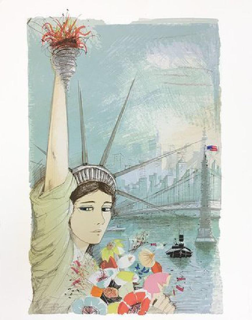 "CHARLES LEVIER ""MISS NEW YORK, 1980"" LITHOGRAPH HS/N"
