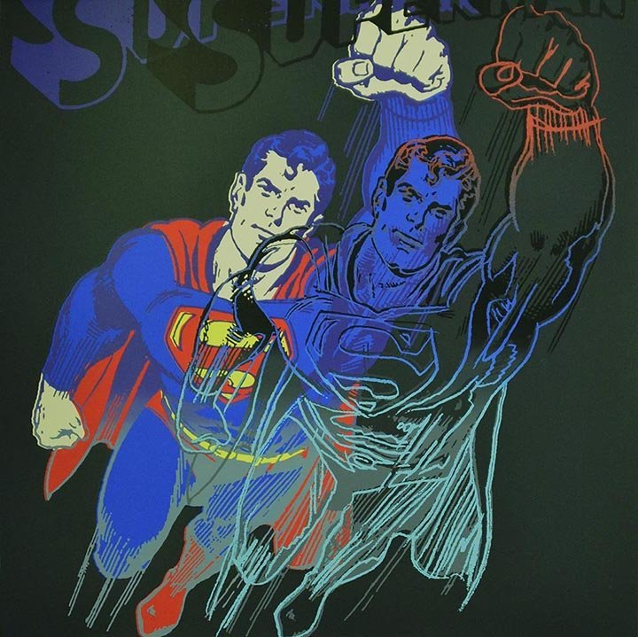 Warhol, Andy SUPERMAN Myths Portfolio Silkscreen, with