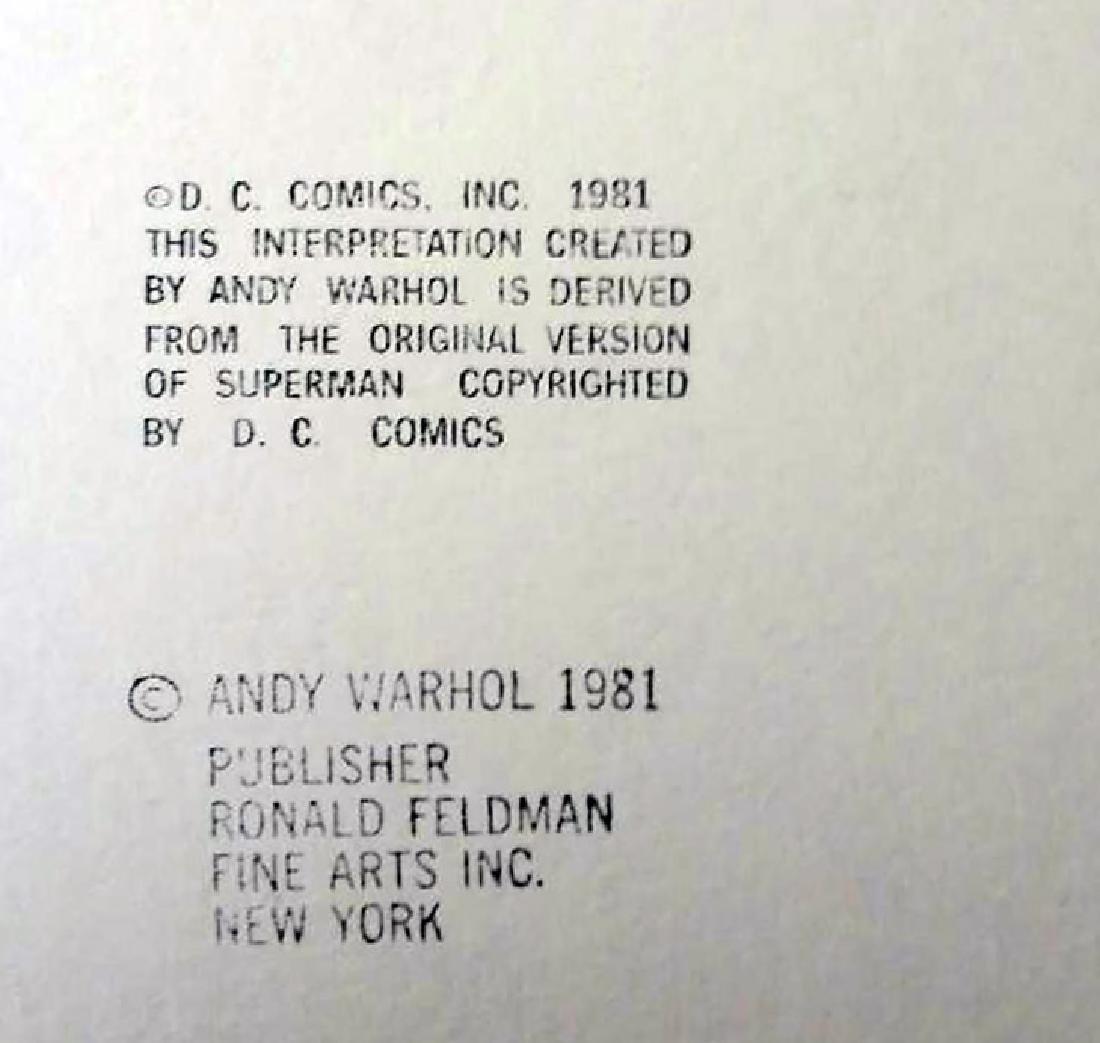 Warhol, Andy SUPERMAN Myths Portfolio Silkscreen, with - 2