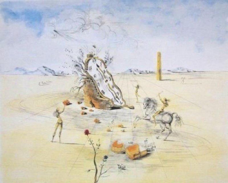 """Salvador Dali """"Cosmic Horseman"""" L/E Lithograph"""