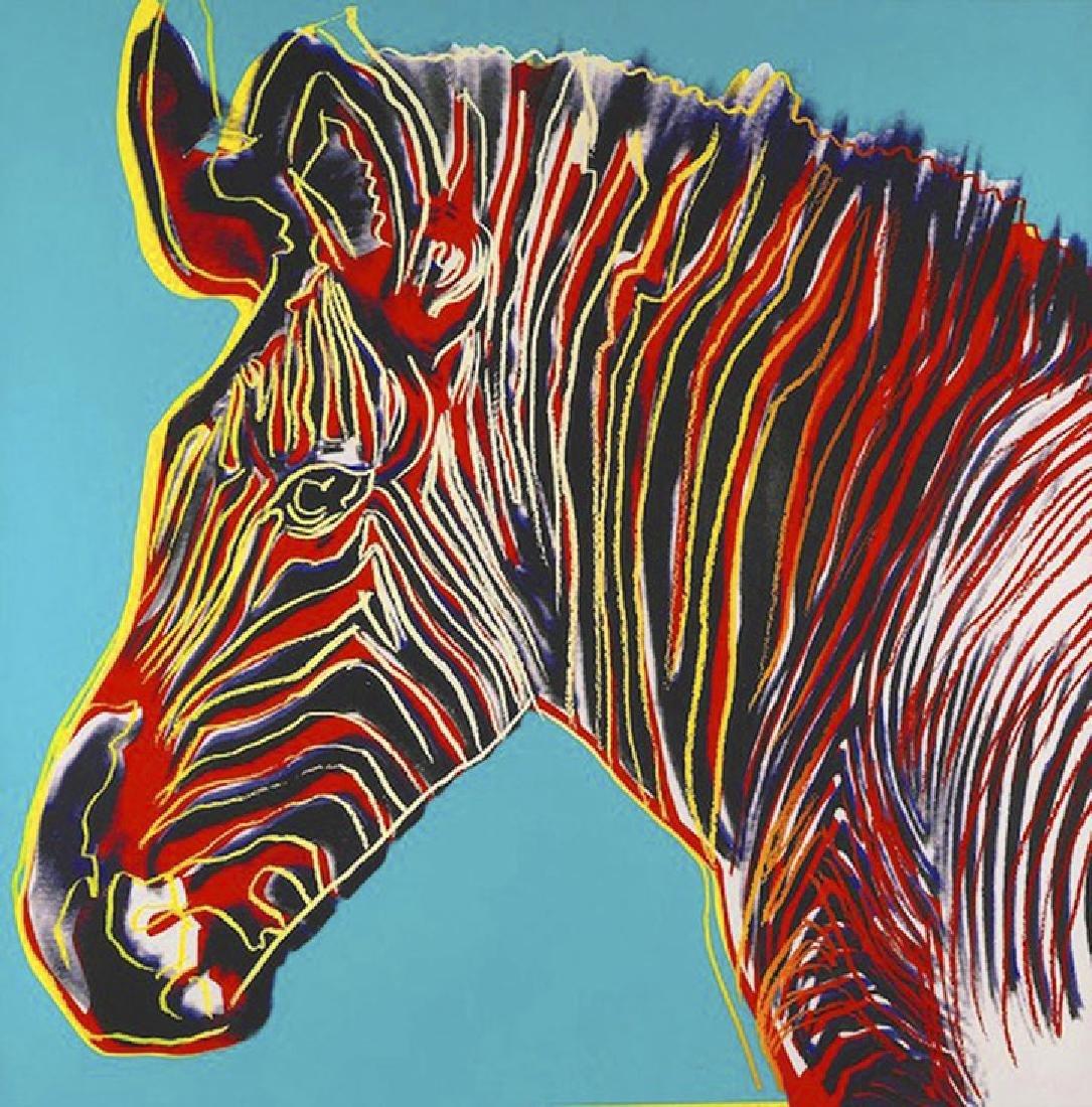 Warhol, Andy Endangered Species GREVY's ZEBRA 1983,