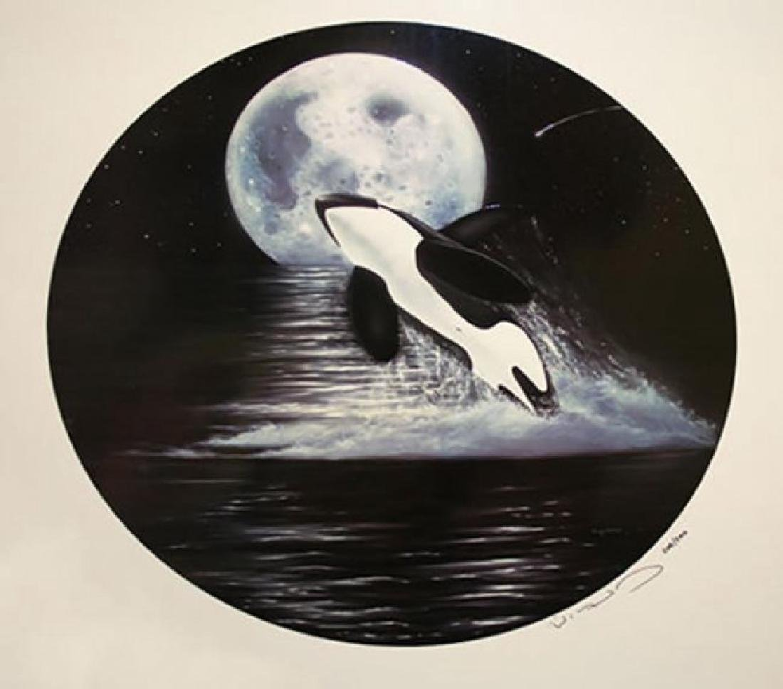 "Wyland ""Orca Moon"" Hand Signed & #Serigraph"