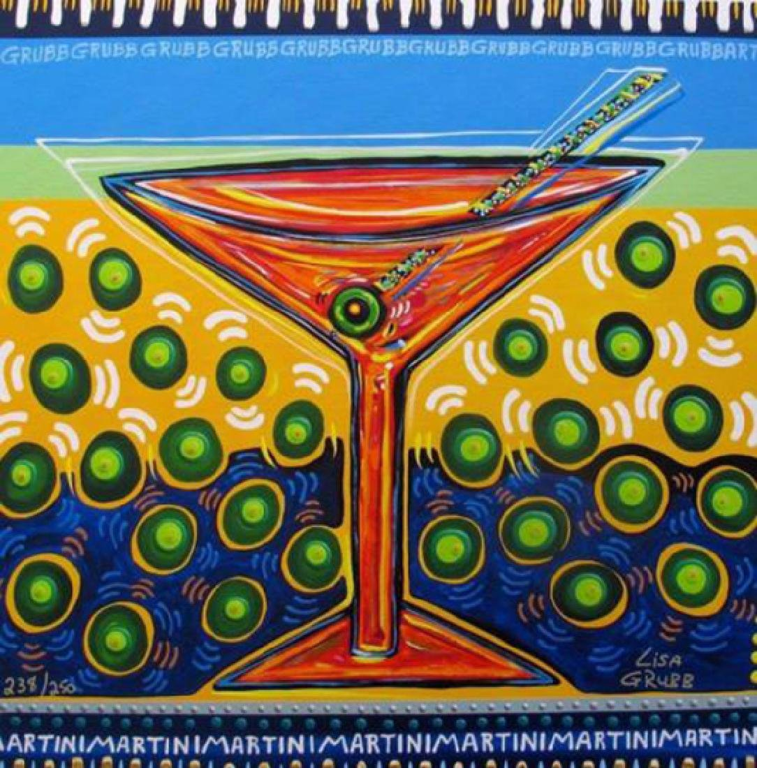 "Lisa Grubb ""Olive Martini"" Giclee Canvas H/S Stretched"