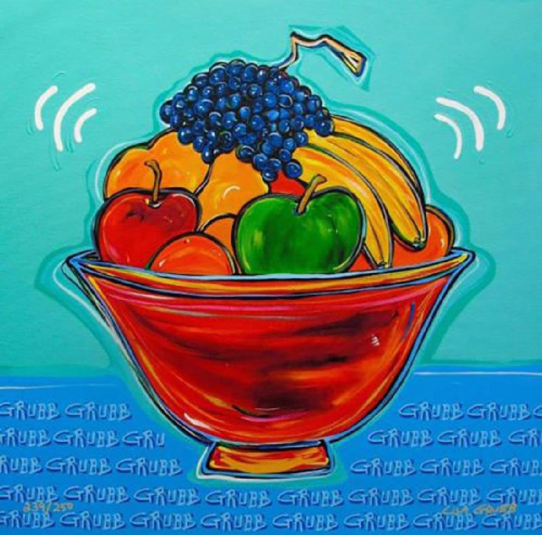 "Lisa Grubb ""Fruit Bowl"" Giclee Canvas Hand signed and"